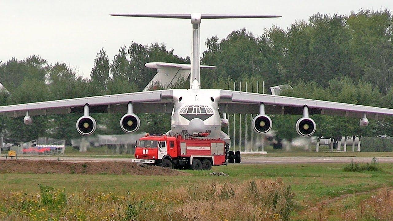 Ил-78 - Руление на малом газу — Шепот Д-30КП / Самолёт-заправщик / Рязань - Дягилево
