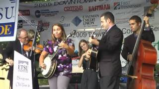 """Pike County Breakdown"", Haley Stiltner on Banjo- ETSU Bluegrass Pride Band in Kingsport 8/29/09"