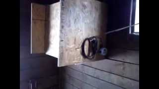 Programmable Homemade Automatic Horse Hay Feeder. Timer