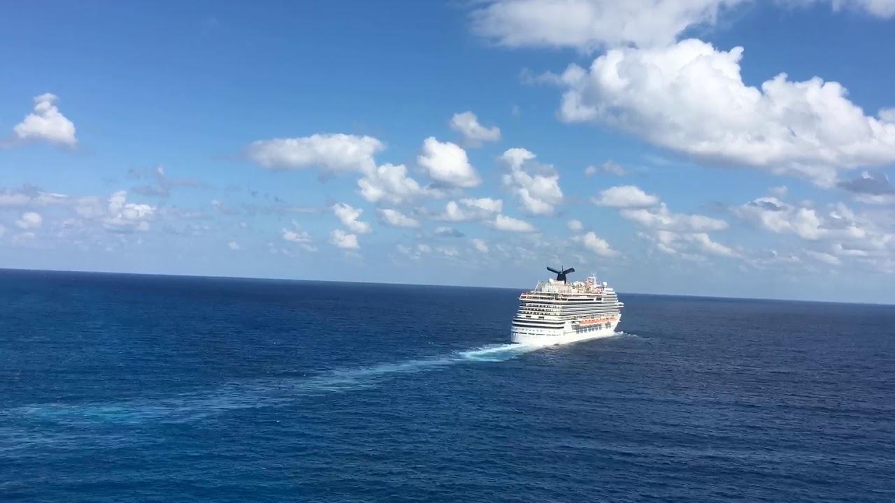 Carnival Breeze sailing away from Costa Maya 1/17/19 - 2:00pm