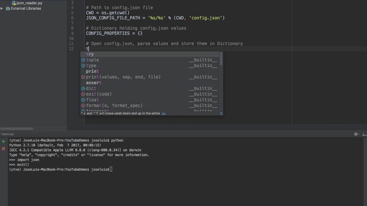 json file to array python