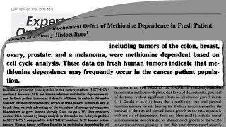 Vyhladovění rakoviny omezením methioninu