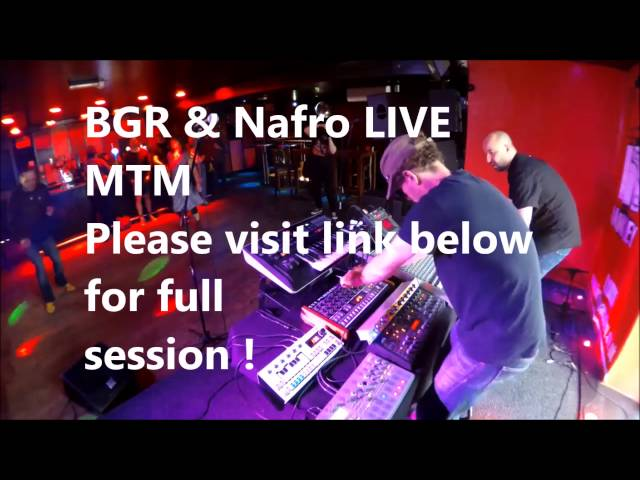 BGR & Nafro Live - Married To Machines - Techno Session - Voudou Barnsley