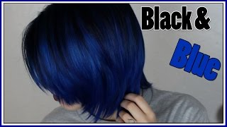Dying My Hair Black and Blue!  (Arctic Fox Hair Color)(So I dyed my hair black and blue and filmed the whole process. For this I used Arctic Fox hair color in Transylvania, Poseidon, and the Arctic Mist diluter., 2016-02-12T18:00:02.000Z)
