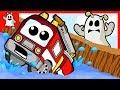 Vehicles Fire Truck Car Toy Fall Into Water Bridge Falling Down Igo Rescuer Friendly Ghost Cartoons