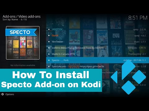 Install Specto on Kodi (Movies/TV Shows/Channels)