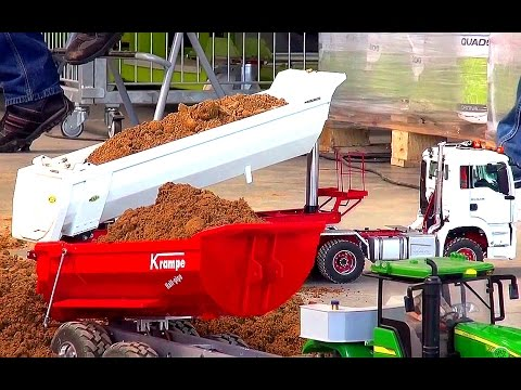 BIG RC Construction-Site & HEAVY Construction-Equipment! RC Truck Action! RC Excavator!