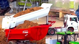 BIG RC Construction-Site & HEAVY Construction-Equipment! RC Truck Action! RC Excavator!