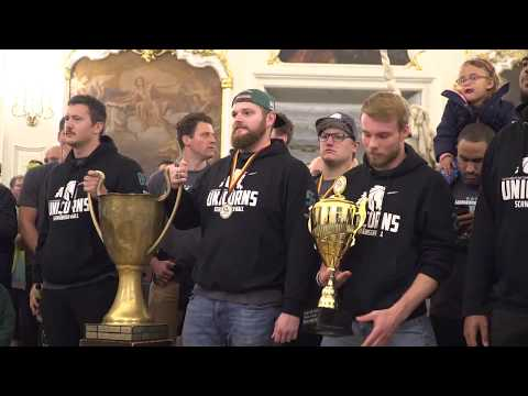 Unicorns Schwäbisch Hall Meisterfeier German Bowl 2017
