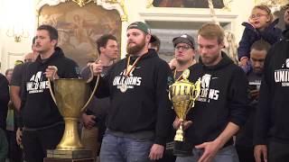 Unicorns Schwäbisch Hall Meisterfeier German Bowl 2017