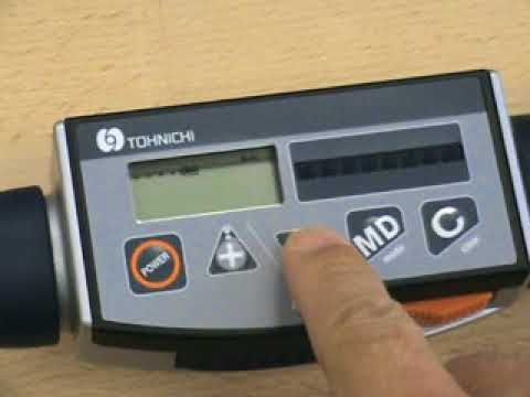 Tohnichi CPT ProTork Digital Torque Wrench for Tightening (preset torque selection)
