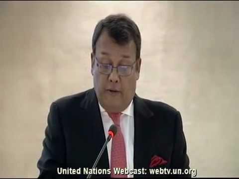 SL at UNHRC Session 2013 - Minister Mahinda Samarasinghe