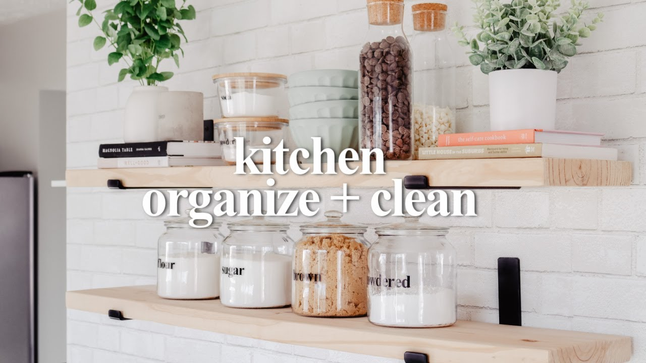 SMALL KITCHEN ORGANIZE + DEEP CLEAN WITH ME 2021