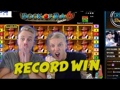 RECORD WIN 6 euro bet BIG WIN - Book of Ra 6 HUGE WIN Drunkstream epic reactions