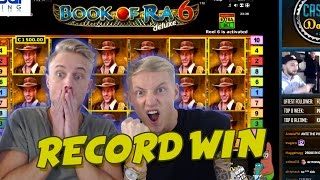 RECORD WIN 6 euro bet BIG WIN - Book of Ra 6 HUGE WIN Drunkstream epic reactions