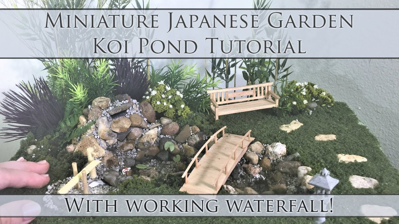 Miniature Anese Garden Koi Pond Tutorial Waterfall Works Dollhouse How To 1 24 Scale Diy