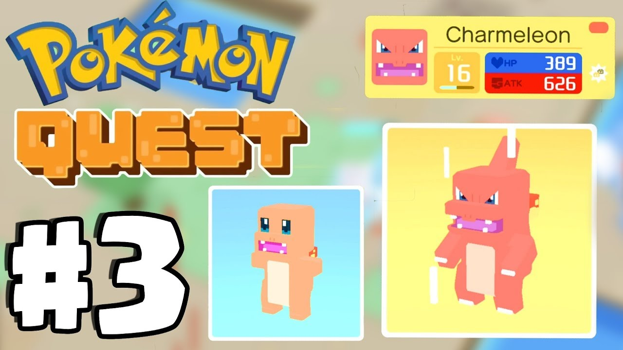 Charmander evolves  world pokemon quest gameplay part switch ios android also rh youtube