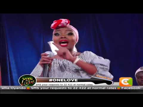 Ivlyn performing live on One love reggae show