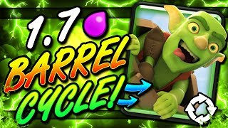 FASTEST GOBLIN BARREL DECK EVER!! 1.7 CYCLE!! THIS IS INSANE!