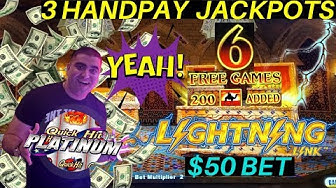 ✦3 HANDPAY JACKPOTS✦ On High Limit Lightning Link , Quick Hits Platinum & Blazing Gems Slot Machines