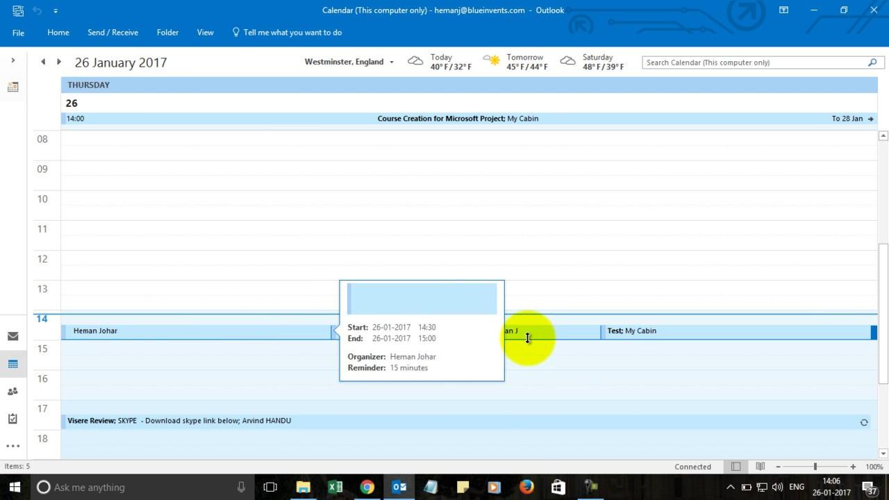 Send Meeting Invite In Outlook 2016