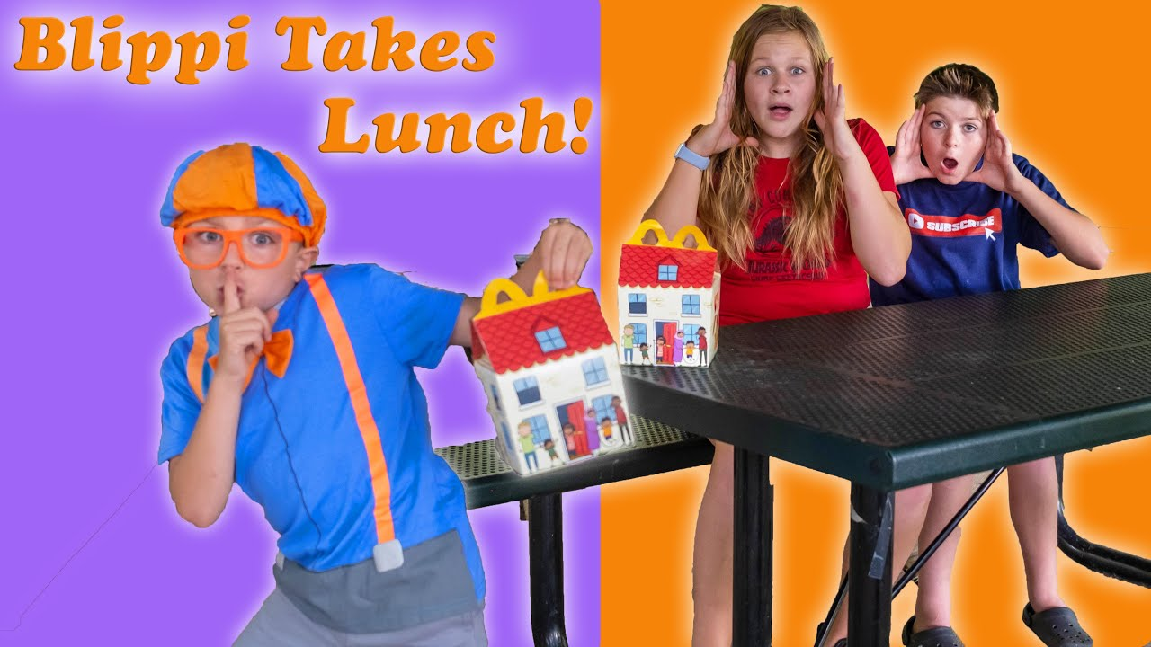 Assistant and Ryan Have their Lunch Taken by Little Blippi