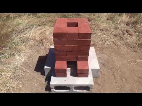 Building a Brick Rocket Stove - Rocket Forge Experiment