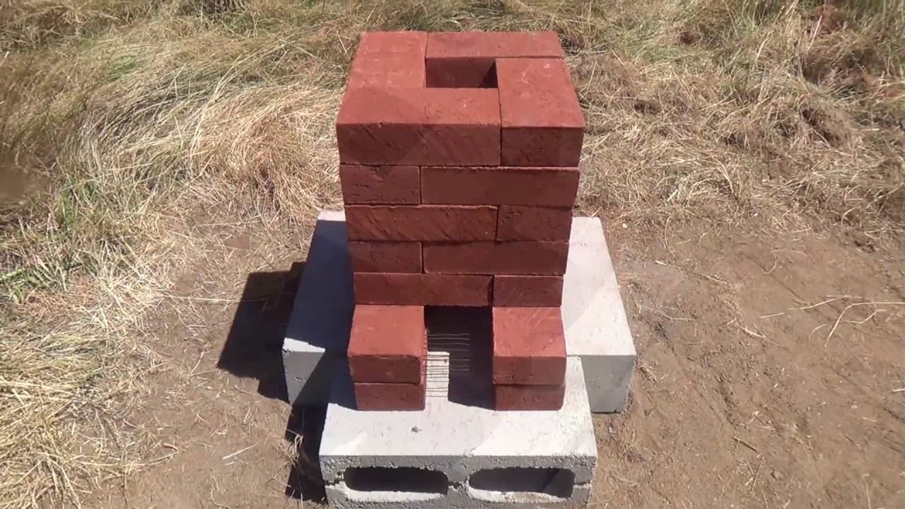 Building a brick rocket stove rocket forge experiment for How to make a rocket stove with bricks