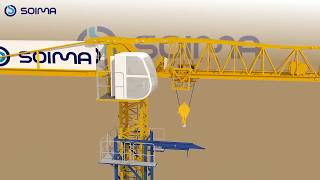 Tower Crane Climbing System. How does it work? Climbing System of SOIMA's Tower Crane!