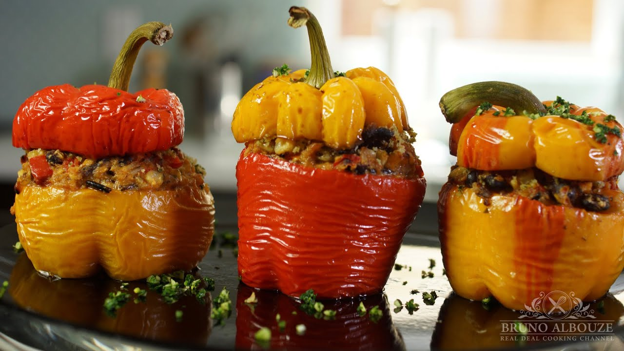 Stuffed bell peppers bruno albouze the real deal youtube forumfinder Image collections