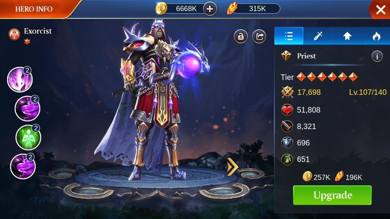 Trials Of Heroes   Fusing 6 Star Exorcist   New Server
