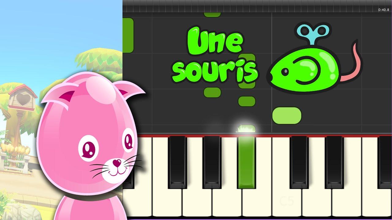 Une souris verte comptine pour apprendre le piano youtube - Une souris verte singe ...
