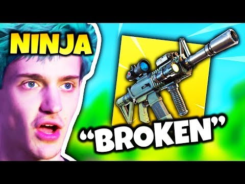 NINJA REACTS TO *NEW* THERMAL SCOPED ASSAULT RIFLE | Fortnite Daily Funny Moments Ep.97 thumbnail