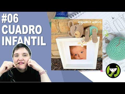 CUADRO INFANTIL AMIGURUMI 6 paso a paso