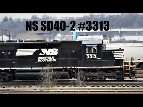 SD40-2 #3313 leading a GP40-2, and a Road Slug