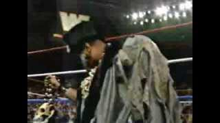Papa Shango Puts a Curse on the Ultimate Warrior