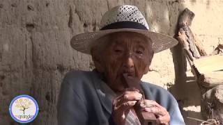 Bolivian old woman