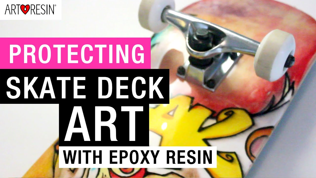 Protecting Skate Deck Art with Epoxy Resin