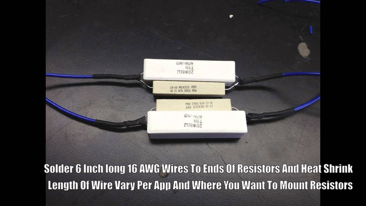 Nnbs Gm Full Size Switchback Led Install Hyper Flash Fix Resistor Ballast Wiring Diagram Diy Youtube