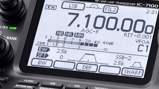 alpha telecom icom ic 7100 review inside view demonstration features and functions