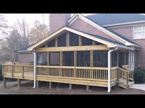How To Build A Raised Deck Over Concrete Patio