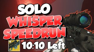 Solo Black Spindle Speedrun in 9:50! World Record [Whisper of the Worm Destiny 2]