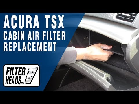 How To Replace Cabin Air Filter Acura TSX YouTube - Acura tsx air filter
