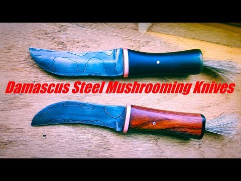 Forging Damascus Steel Mushrooming Knives