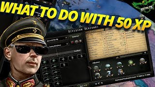 What to do With your first 50 Army XP in HOI4 (Hearts of Iron 4 Tutorial)