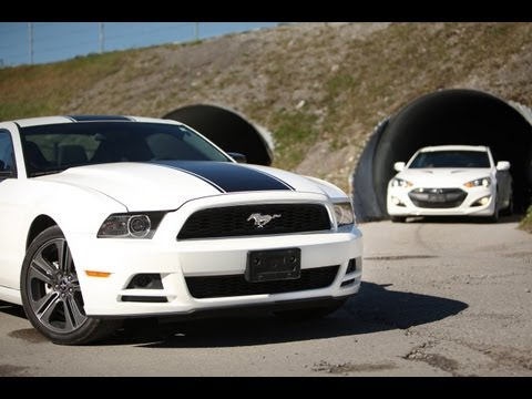 2013 Hyundai Genesis Coupe 3.8 Track vs 2013 Ford Mustang V6 Performance Package