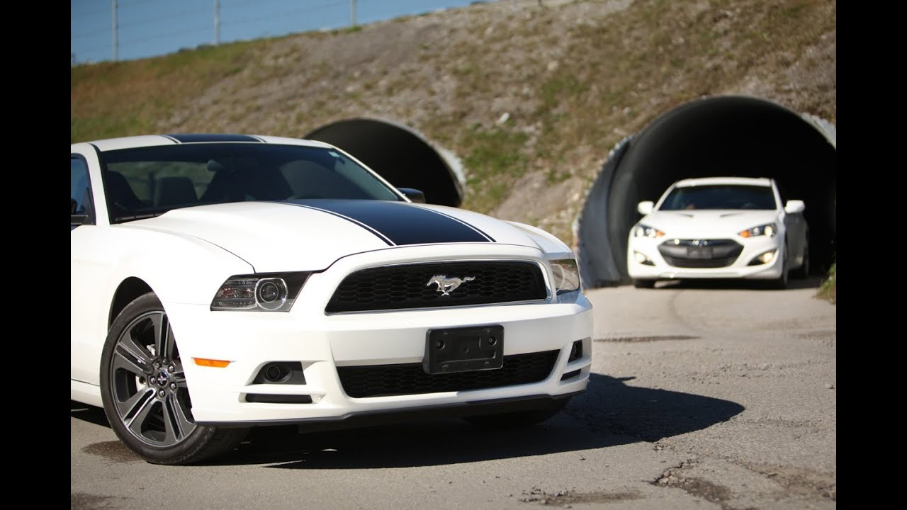 2013 hyundai genesis coupe vs ford mustang performance package car reviews [ 1280 x 720 Pixel ]