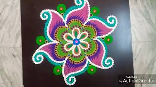 Simple rangoli with colours