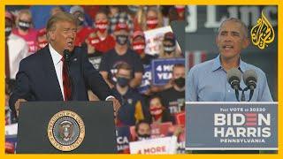 انتخابات أمريكا.. أوباما يهاجم ترمب في أول ظهور بحملة بايدن والرئيس يواصل الحشد بالولايات الحاسمة