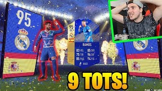 IL KING DEI TOTS!! 9 TOTS GRATIS!! - LIGA TOTS Pack Opening FIFA 18 Ultimate Team